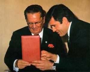 Josip Broz Tito i Azem Vllasi