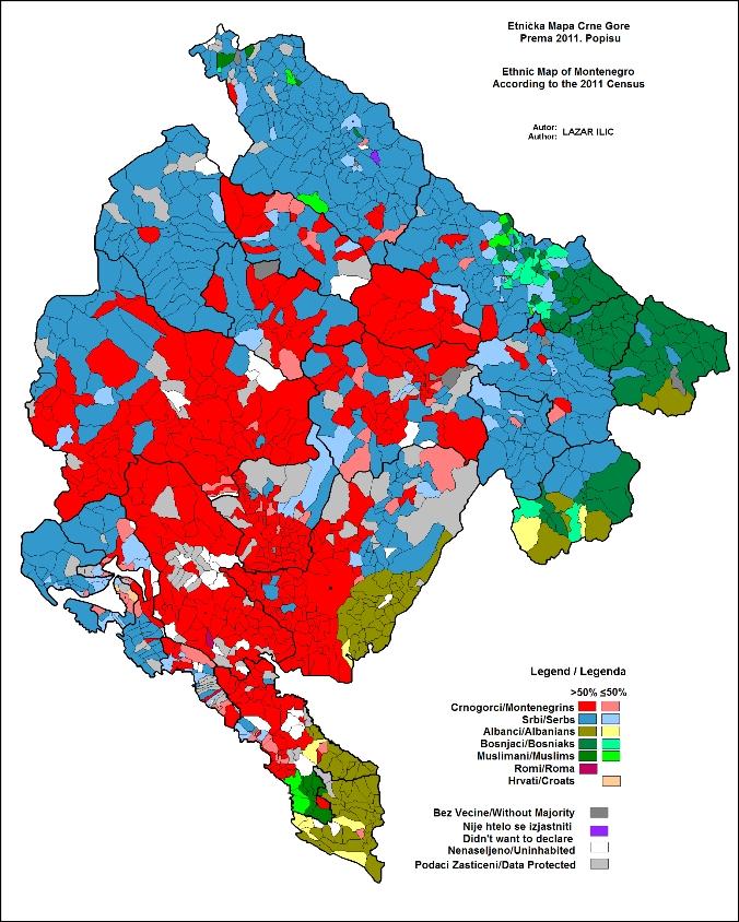 etnicka mapa crne gore Bosnjaci.Net etnicka mapa crne gore