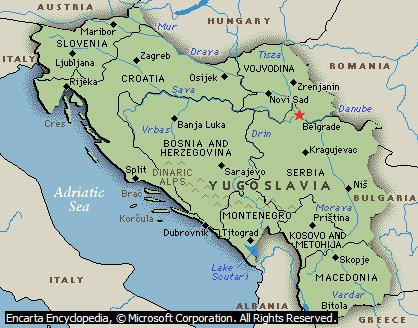 Mapa Jugoslavije Superjoden